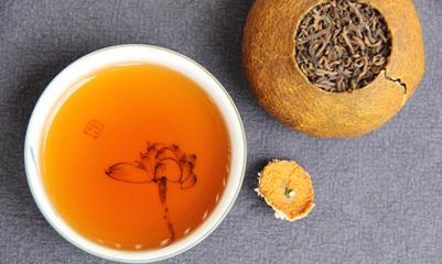 好的柑普陈皮普洱茶,选购主要是柑果一定要是新会为好